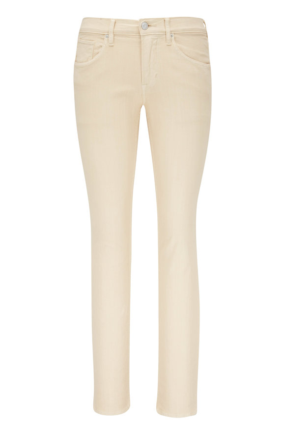 Hudson Clothing Blake Light Beige Five Pocket Slim Straight Jean