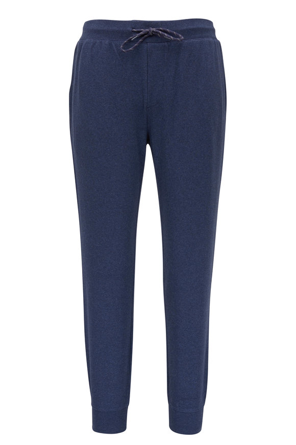 Faherty Brand Forever Navy Stretch Cotton Jogger