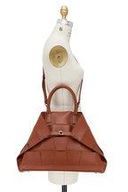 Akris - Ai Caramel Woven Leather Top Handle Bag