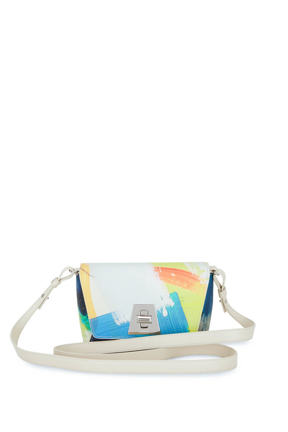 Akris Anouk Little Brush Stroke Print Crossbody Bag