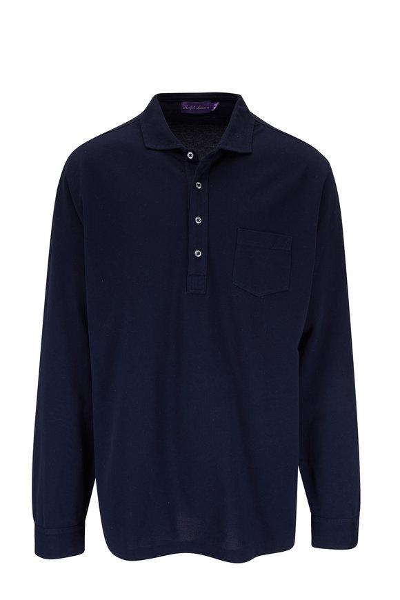 Ralph Lauren Navy Long Sleeve Polo