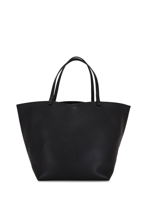 The Row Park Black Smooth Leather Extra Large Tote