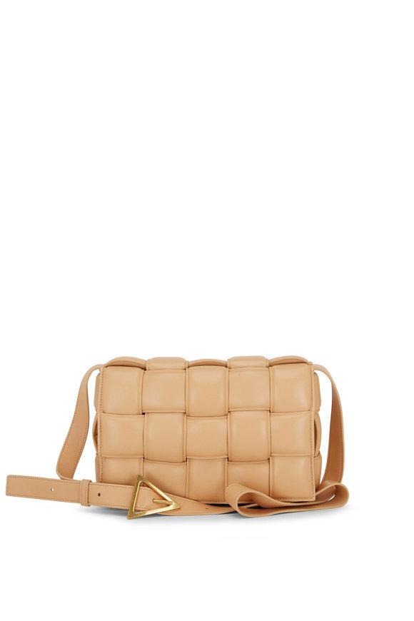Bottega Veneta Cassette Almond Padded Woven Leather Bag