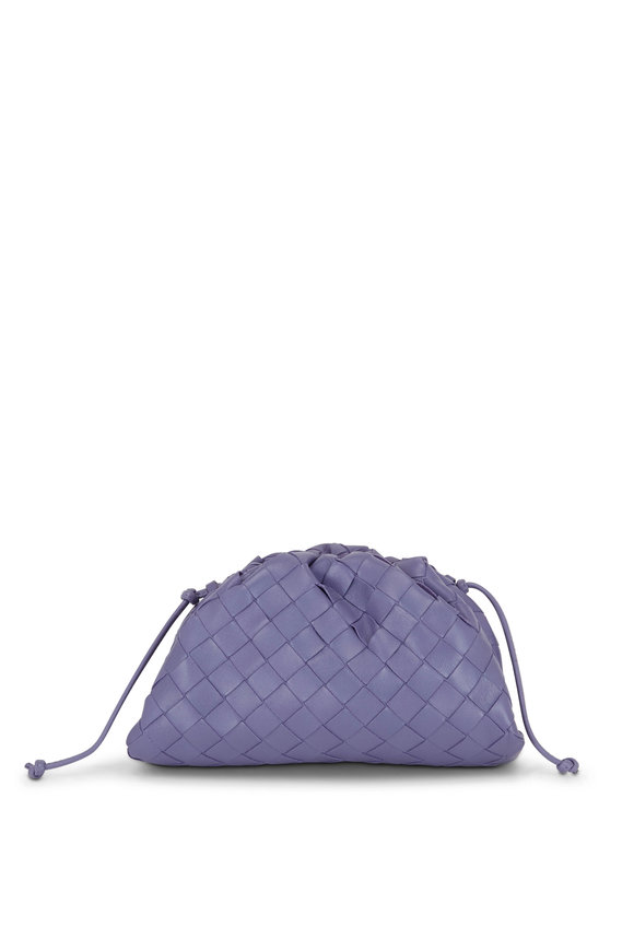 Bottega Veneta Lavender Interciatto Leather Small Crossbody
