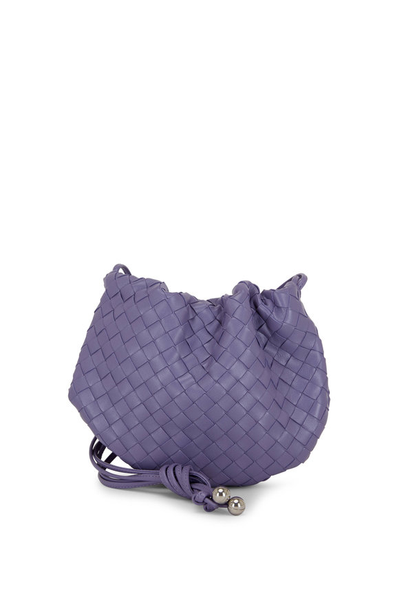 Bottega Veneta Lavender Interciatto Leather Mini Crossbody Pouch