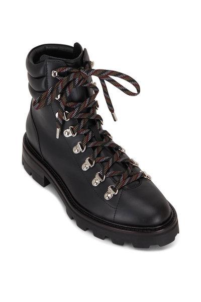 Jimmy Choo - Eshe Black Leather Lace-Up Hiking Boot