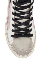 Golden Goose - Slide Silver Glitter & Pink Leather Sneaker