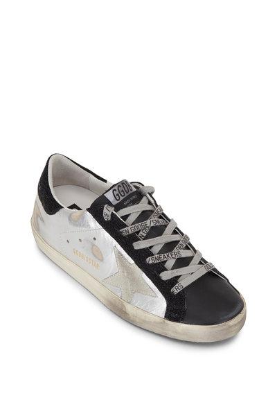 Golden Goose - Superstar Silver & Black Low-Top Sneaker