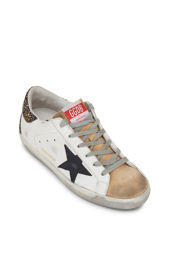 Golden Goose Superstar White & Bronze Leather Low-Top Sneaker