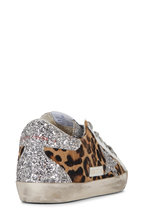 Golden Goose - Superstar Leopard & Glitter Star Low-Top Sneaker