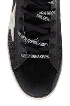 Golden Goose - Francy Black Glitter & Silver Star Sneaker