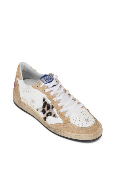 Golden Goose - Ballstar White & Beige Low-Top Sneaker