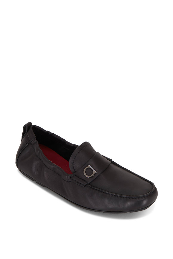 Salvatore Ferragamo Panarea Black Leather Loafer