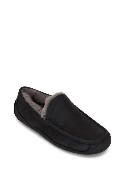 Ugg - Ascot Black Leather Slipper