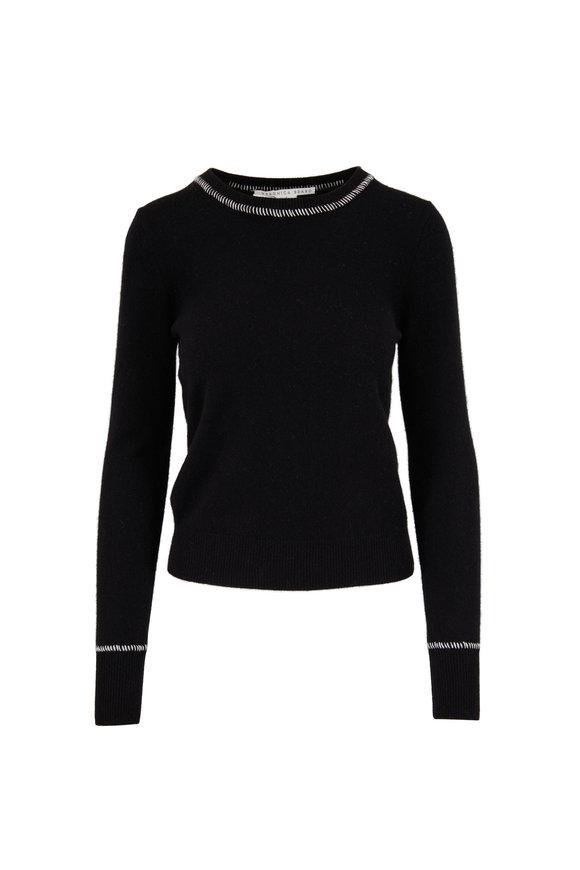 Veronica Beard Zalga Black Cashmere Sweater