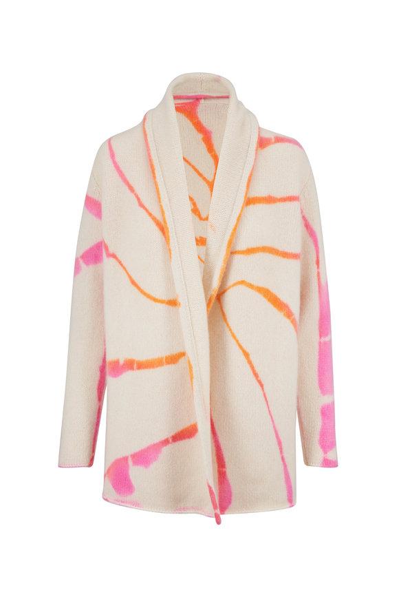 The Elder Statesman Pink & Orange Tie-Dye Cashmere Smoking Jacket