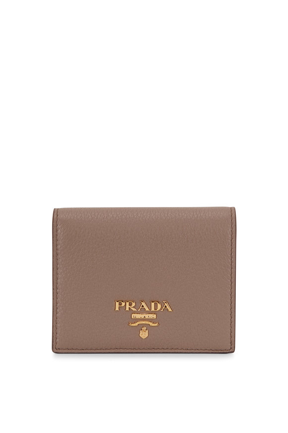 Prada Grey & Pink Fold Over Wallet