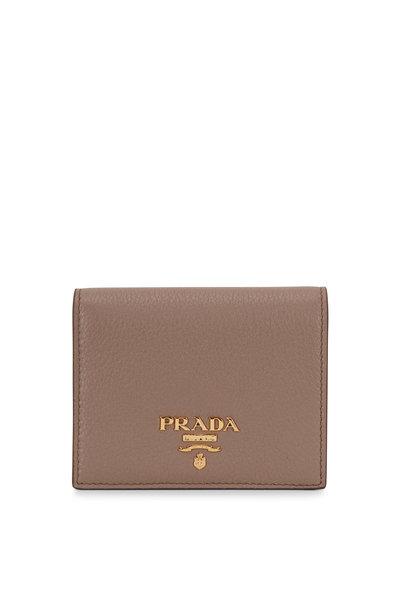 Prada - Grey & Pink Fold Over Wallet