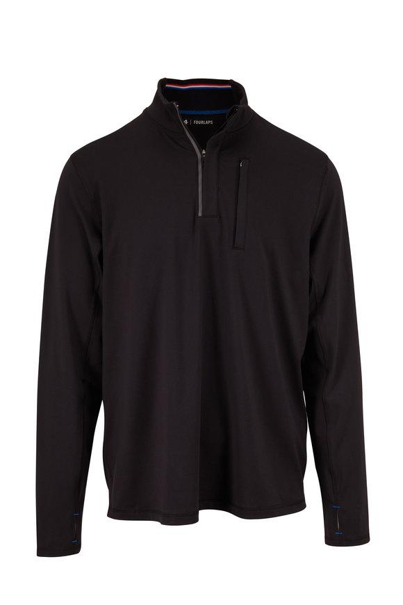 Fourlaps Venture Black Quarter-Zip Pullover