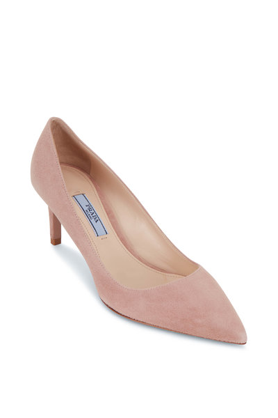 Prada - Nude Suede Pump, 65mm