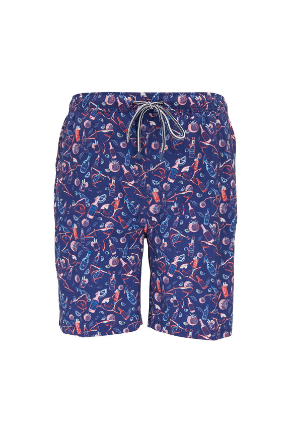 Peter Millar Recipe For Disaster Atlantic Blue Swim Trunks