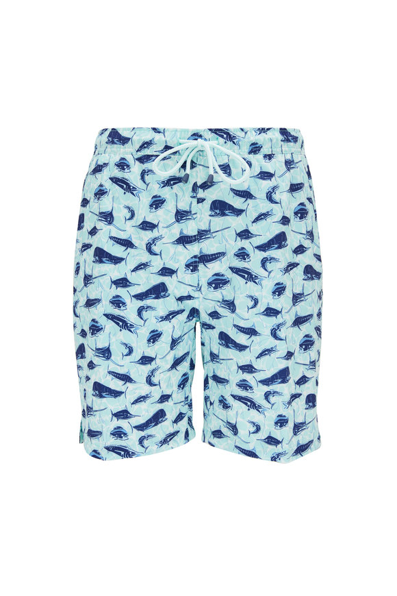 Peter Millar Deep Sea Fishing Ebb Tide Swim Trunks