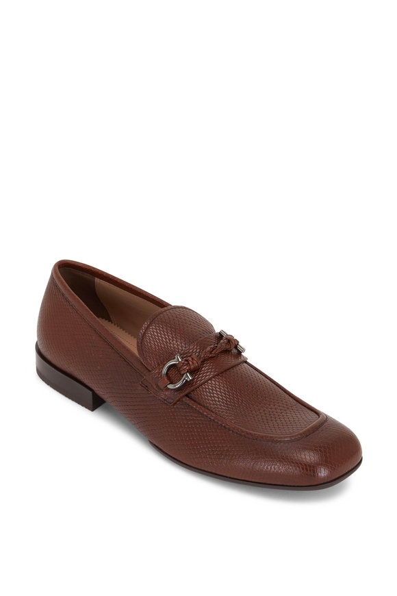 Salvatore Ferragamo Morgensen Medium Brown Leather Loafer