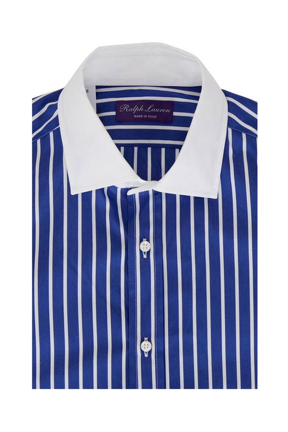 Ralph Lauren Blue & White Stripe Poplin Shirt