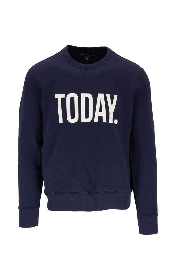 Fourlaps Navy Graphic Fleece Crewneck Sweatshirt