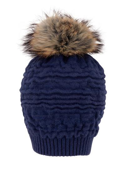 Viktoria Stass - Teal Knit Pom Pom Hat