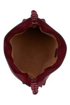 Loewe - Flamenco Malbec Burgundy Nappa Leather Clutch