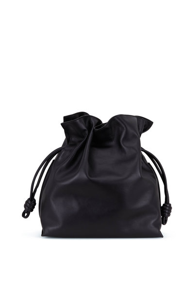 Loewe - Flamenco Black Leather Large Knot Bag