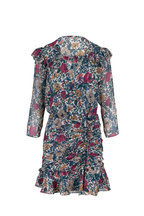 Veronica Beard - Marilla Floral Silk Three-Quarter Sleeve Dress