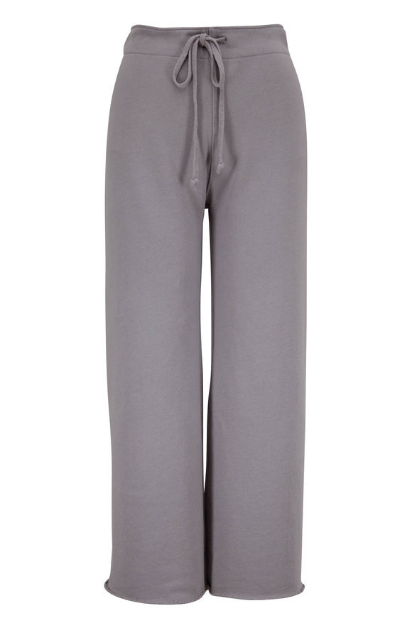 Nili Lotan Kiki Cloud Grey Cropped Sweatpant