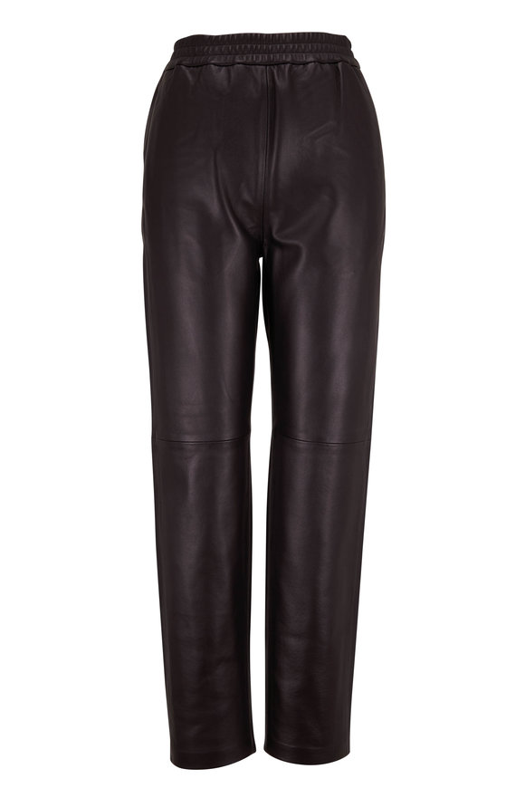 CO Collection Black Leather Jogger