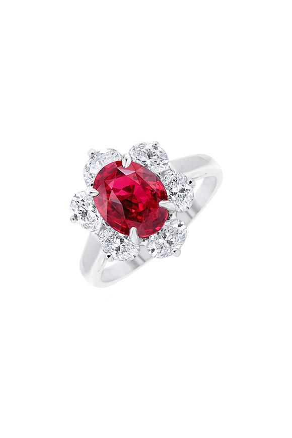 Oscar Heyman Platinum Mozambique Ruby Ring