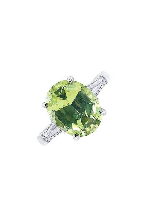 Oscar Heyman Platinum Chrysoberyl Cocktail Ring