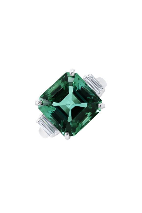 Oscar Heyman Platinum Tourmaline & Diamond Ring