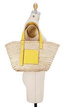 Loewe - Basket Natural & Yellow Raffia Bag
