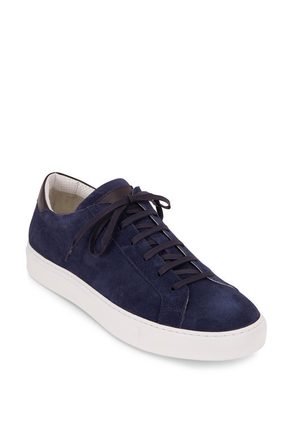 To Boot New York Pacer Navy Blue Suede Sneaker