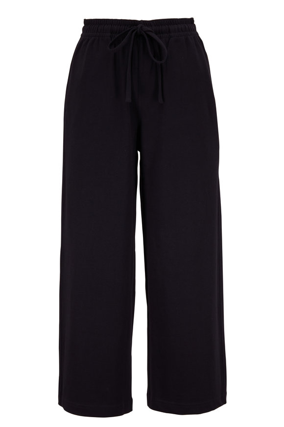 Vince Navy Cropped Wide Leg Pant