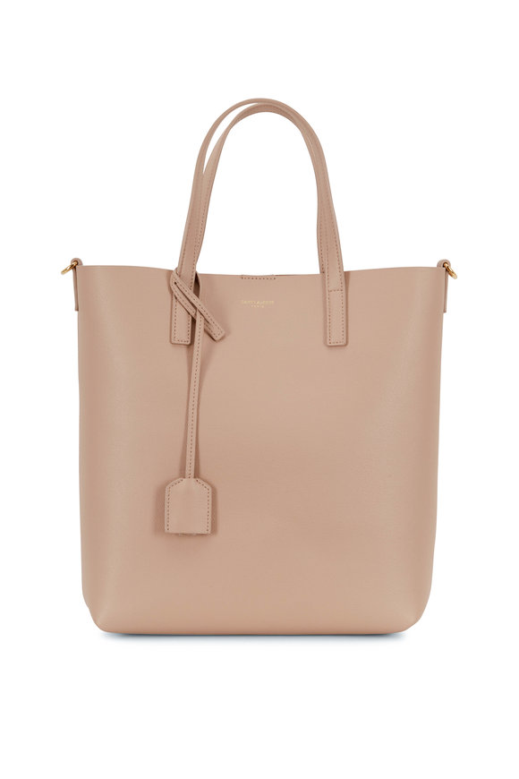 Saint Laurent Toy Dark Beige Leather Shopping Tote