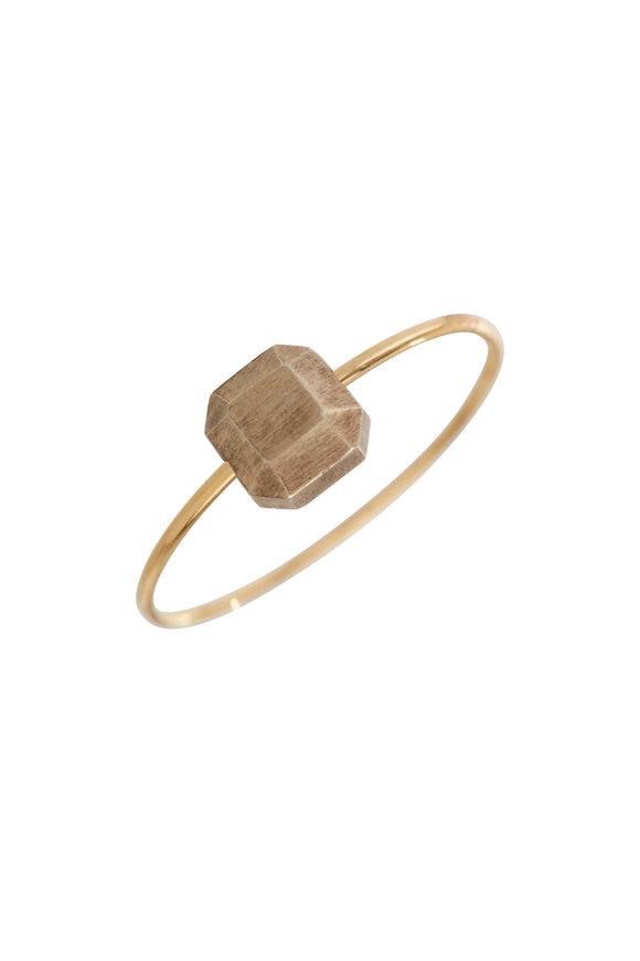 Ikeana Makri Gold Little Square Gem Ring