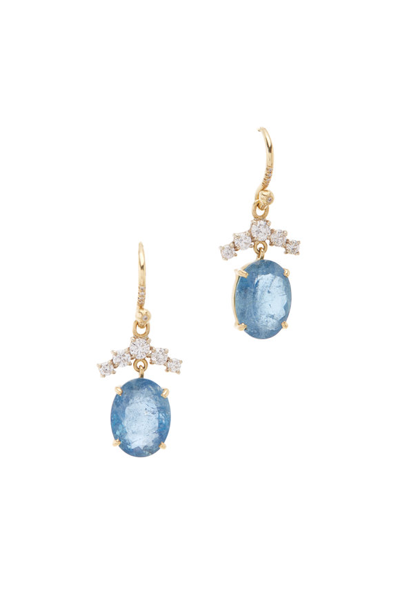 Irene Neuwirth 18K Yellow & White Gold Aquamarine Earrings