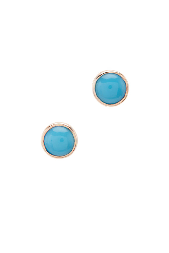 Julez Bryant 14K Rose Gold Turquoise Otto Earrings