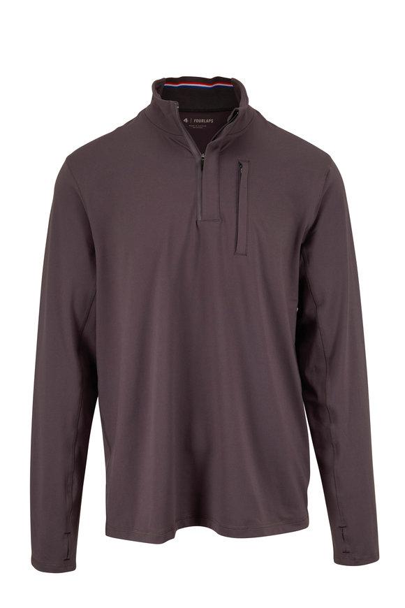 Fourlaps Charcoal Grey Half-Zip Pullover