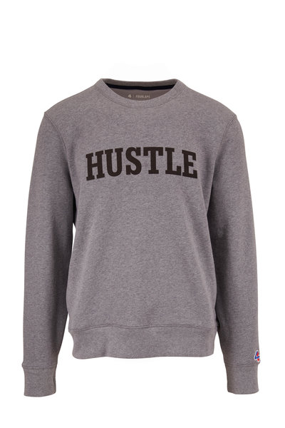 Fourlaps - Gray Graphic Fleece Crewneck Sweatshirt