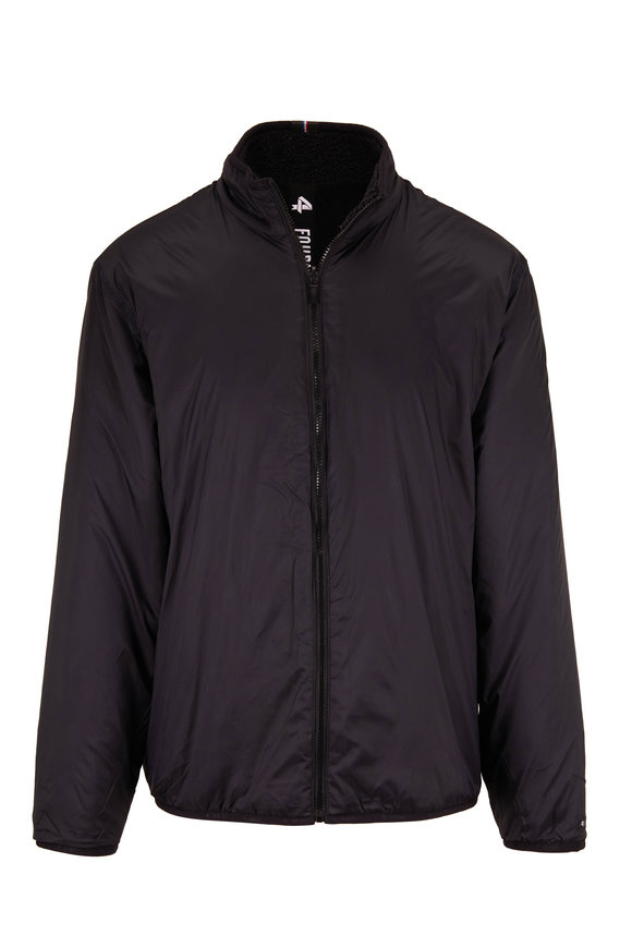 Fourlaps Black Sherpa Reversible Jacket
