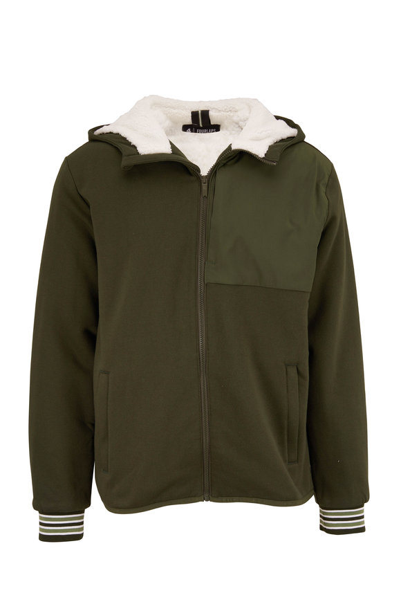 Fourlaps Expanse Army Green Sherpa Hoodie