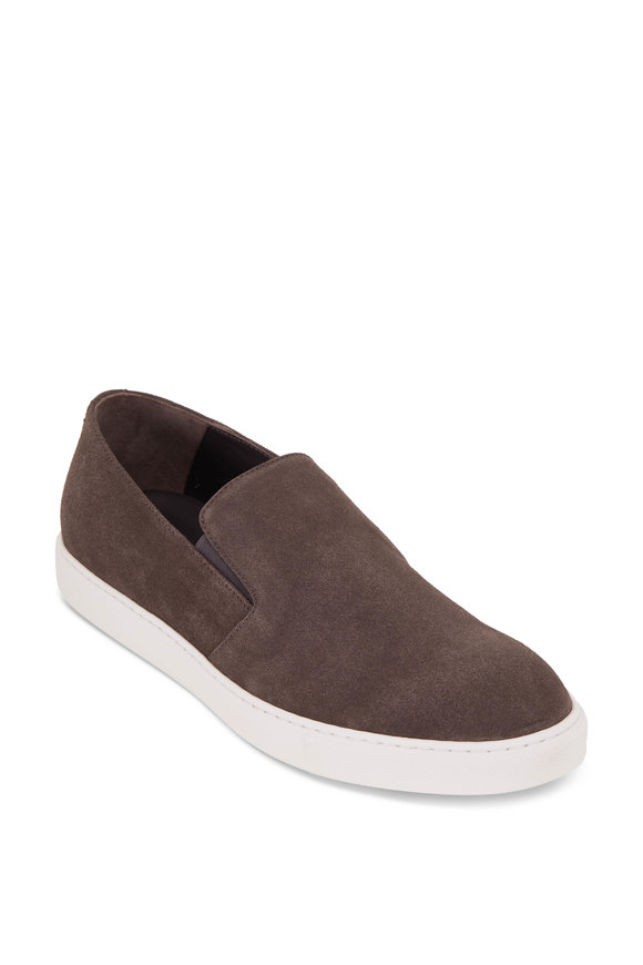 To Boot New York Marius Gray Suede Slip On Sneaker